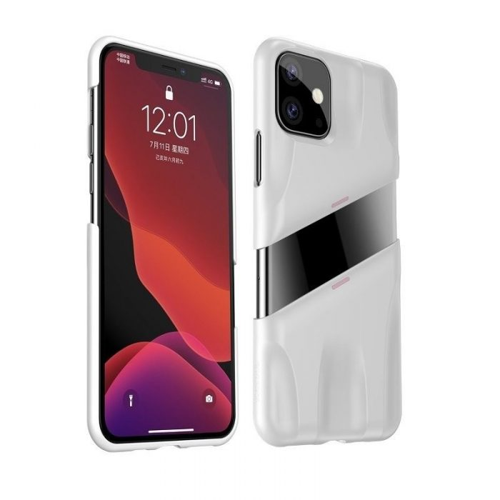 baseus let's go airflow coolinggame protective case for apple iphone 11 white&pink - baseus 6953156211957 1