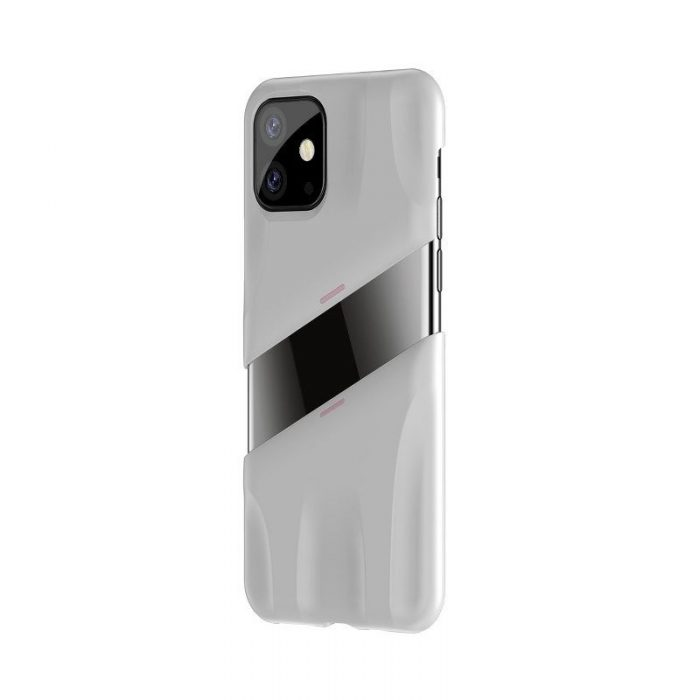 baseus let's go airflow coolinggame protective case for apple iphone 11 white&pink - baseus 6953156211957 2