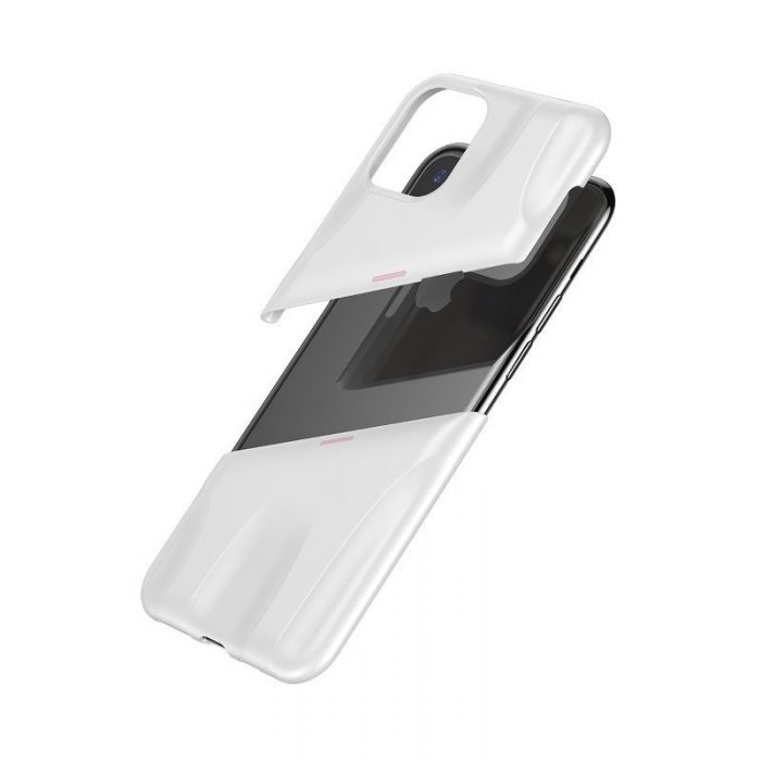 baseus let's go airflow coolinggame protective case for apple iphone 11 white&pink - baseus 6953156211957 4
