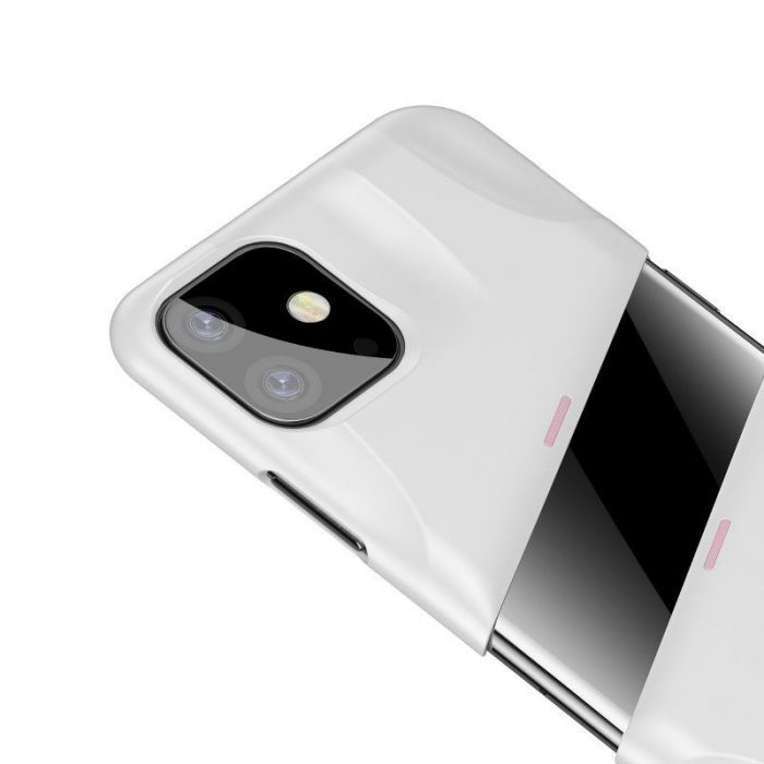baseus let's go airflow coolinggame protective case for apple iphone 11 white&pink - baseus 6953156211957 5