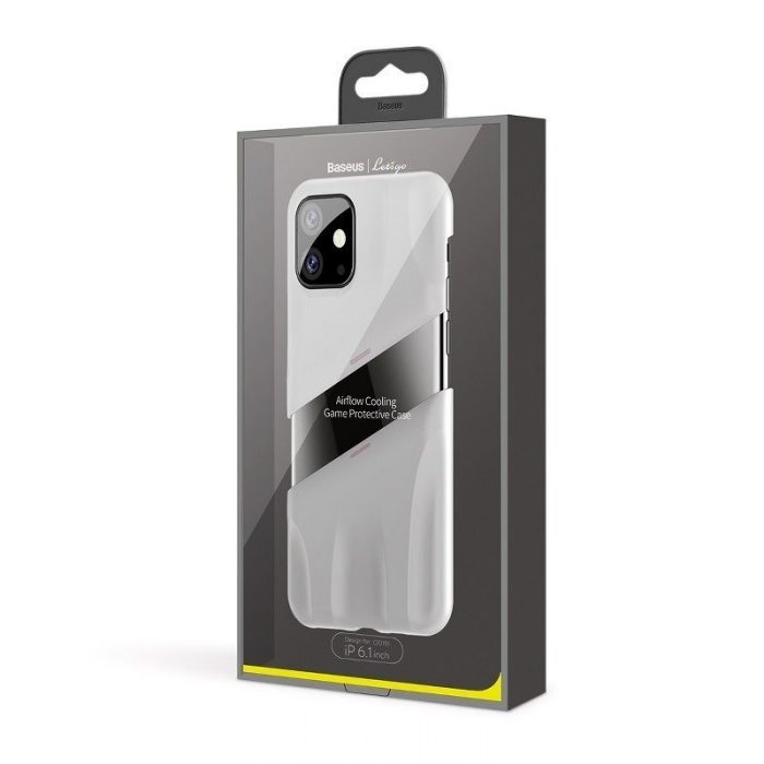 baseus let's go airflow coolinggame protective case for apple iphone 11 white&pink - baseus 6953156211957 6