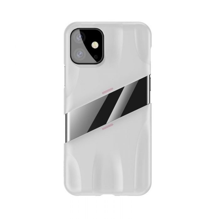 baseus let's go airflow coolinggame protective case for apple iphone 11 white&pink - baseus 6953156211957