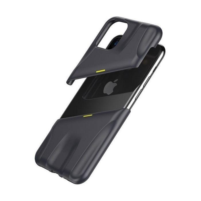 baseus let's go airflow coolinggame protective case for ip11 pro max 6.5inch (2019) grey&yellow - baseus 6953156211964 3