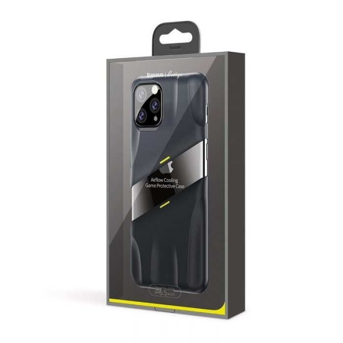 baseus let's go airflow coolinggame protective case for ip11 pro max 6.5inch (2019) grey&yellow - baseus 6953156211964 6