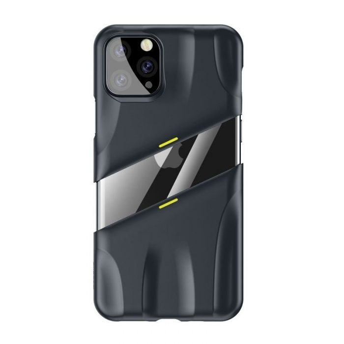 baseus let's go airflow coolinggame protective case for ip11 pro max 6.5inch (2019) grey&yellow - baseus 6953156211964