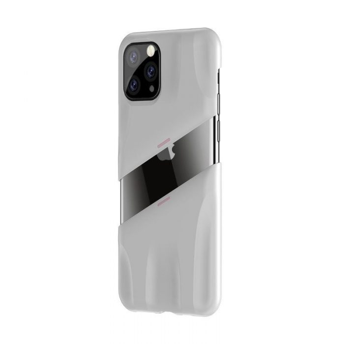 baseus let's go airflow coolinggame protective case for ip11 pro max 6.5inch (2019) white&pink - baseus 6953156211971 2
