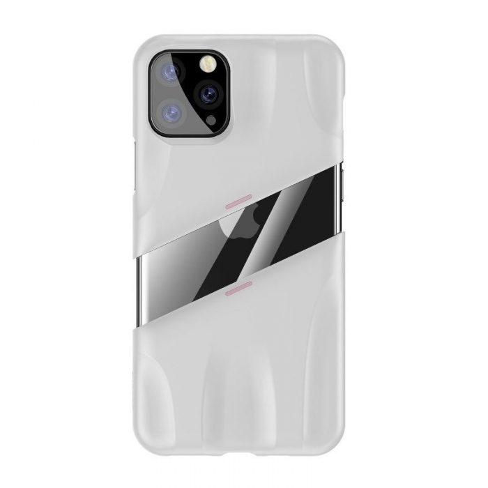 baseus let's go airflow coolinggame protective case for ip11 pro max 6.5inch (2019) white&pink - baseus 6953156211971