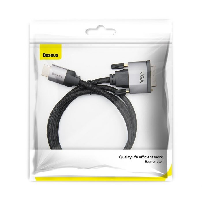 hdmi to vga cable baseus enjoyment series, full hd, 1m gray - baseus 6953156213470 5