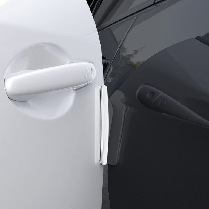 baseus streamlined car door bumper strip white - baseus 6953156293403 7 1