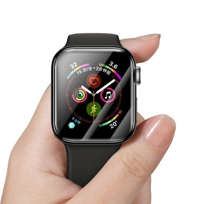 baseus 0.2mm tempered glass soft screen protector 40mm for apple watch 4 - baseus 6953156297661 2