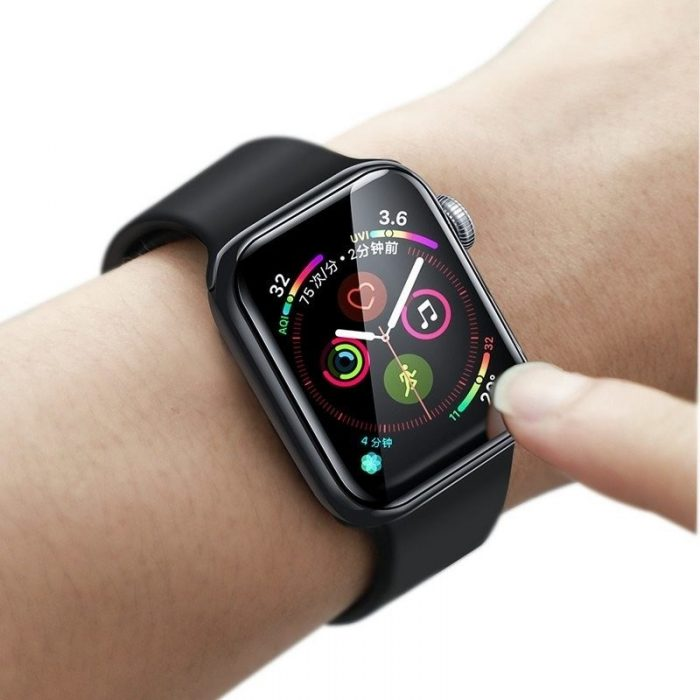 baseus 0.2mm tempered glass soft screen protector 40mm for apple watch 4 - baseus 6953156297661 5