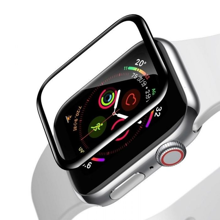 baseus 0.2mm tempered glass soft screen protector 44mm for apple watch 4 - baseus 6953156297678