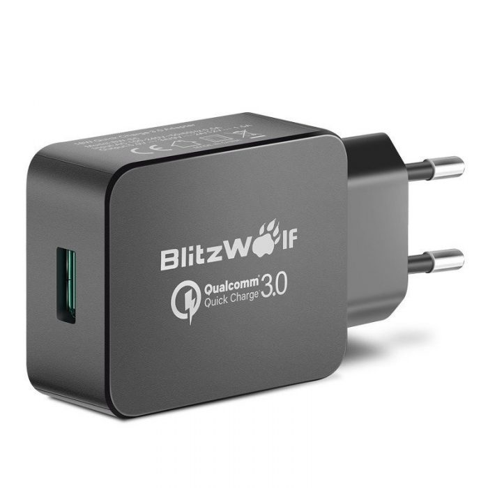 wall charger usb blitzwolf bw-s5 quick charge 3.0 18w black - blitzwolf 5901597312925