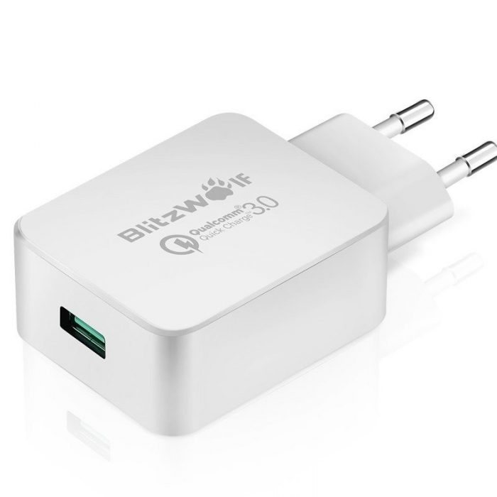 wall charger usb blitzwolf bw-s5 quick charge 3.0 18w white - blitzwolf 5907489600637 1