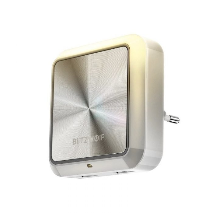 blitzwolf bw-lt14 plug-in dual usb sensor night light 2x usb - blitzwolf 5907489602051 8