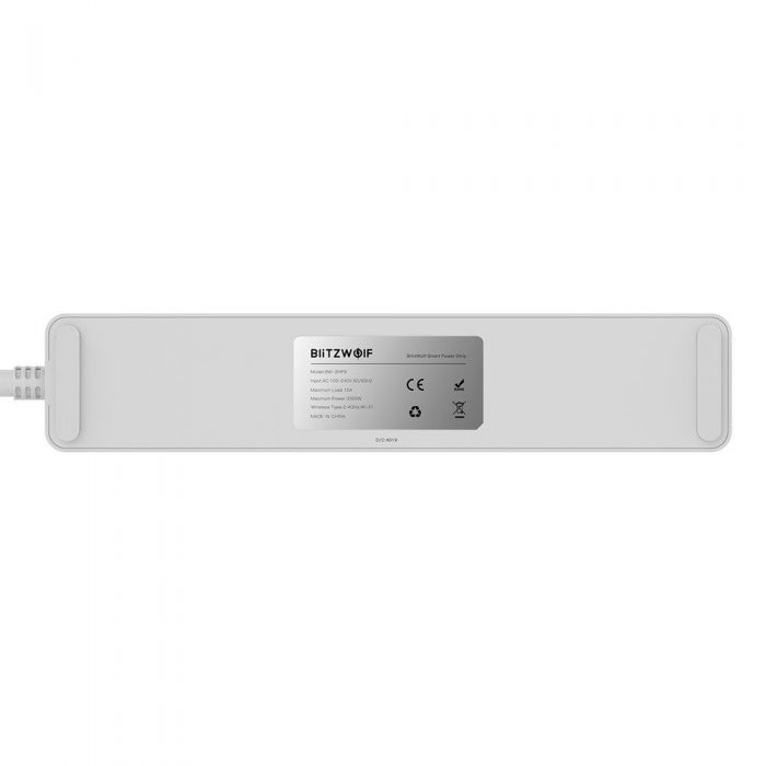 blitzwolf bw-shp9 smart power strip 3300w 3 outlets eu with dual usb 2.4a - blitzwolf 5907489603720 3 1