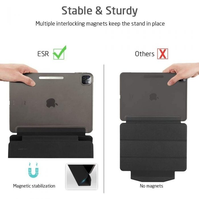 esr yippee apple ipad pro 12.9 2018/2020 jelly black - esr 4894240108765 6