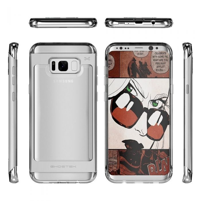 ghostek cloak 2 samsung galaxy s8 plus silver + screen protector - ghostek 643217499535 5 1
