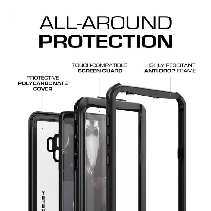 waterproof case ghostek nautical 2 samsung galaxy s9 black - ghostek 811663030002 1 1