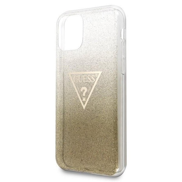 kryt guess guhcn65sgtlgo iphone 11 pro max gold hard case glitter triangle - guess 3700740461440 4