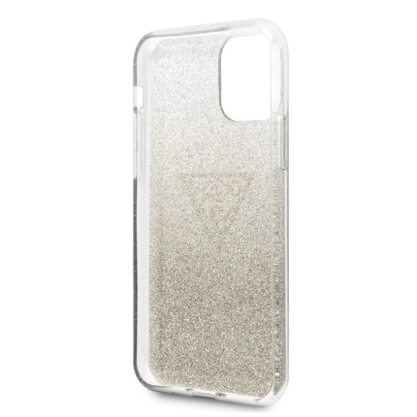 kryt guess guhcn65sgtlgo iphone 11 pro max gold hard case glitter triangle - guess 3700740461440 5