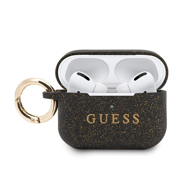 guess guacapsilglbk airpods pro cover black silicone - guess 3700740472422