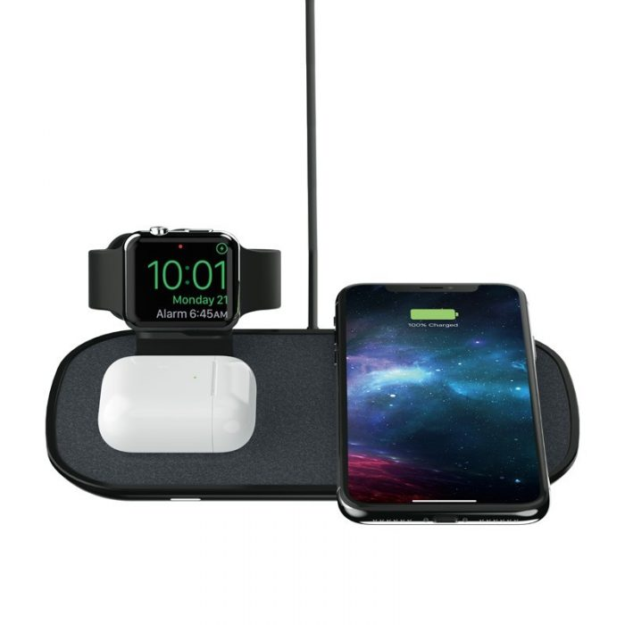 mophie 3-in-1 wireless charging pad to apple watch, airpods, iphone - mophie 840056100176 2