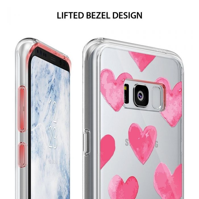 ringke fusion design samsung galaxy s8 plus watercolor hearts - ringke 8809550340336 6 1