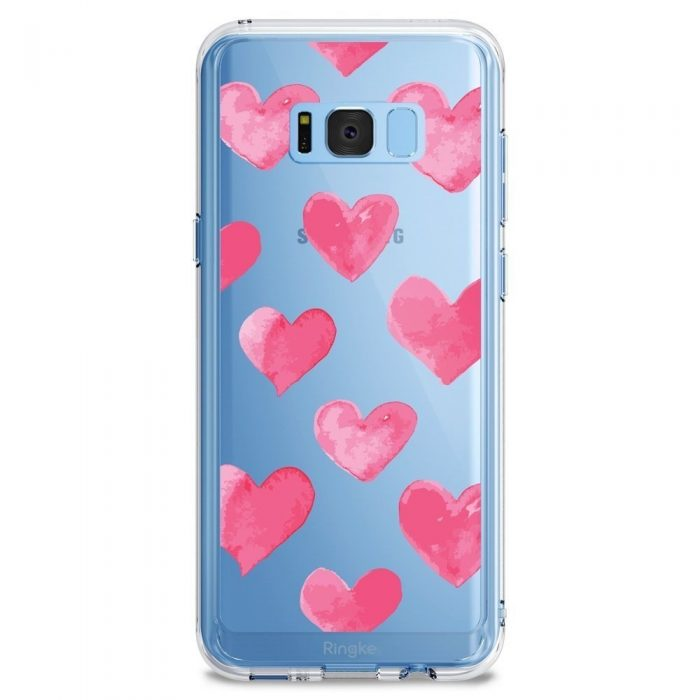 ringke fusion design samsung galaxy s8 plus watercolor hearts - ringke 8809550340336 7