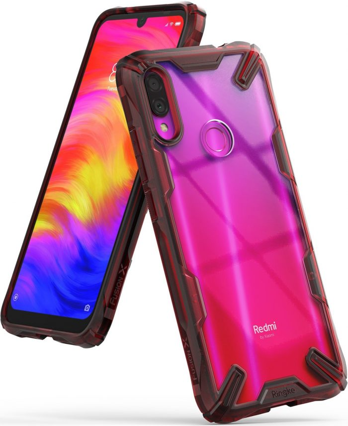 ringke fusion-x redmi note 7 ruby red - ringke 8809659047525 8