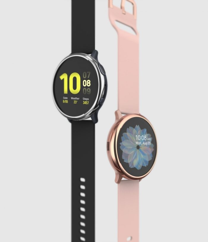 ringke bezel styling samsung galaxy watch active 2 40mm stainless glossy rose gold gwa2-40-02 - ringke 8809688893537 1
