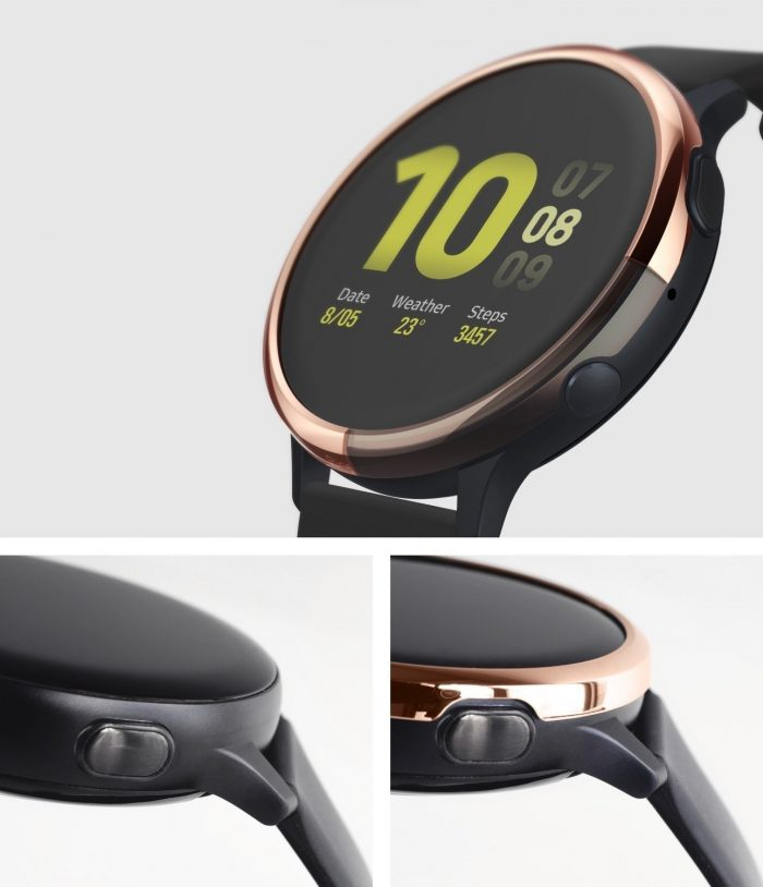 ringke bezel styling samsung galaxy watch active 2 44mm stainless glossy rose gold gwa2-44-02 - ringke 8809688893551 2