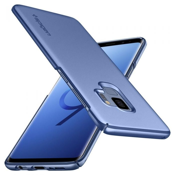 spigen thin fit samsung galaxy s9 coral blue - spigen 8809565305054 4 1