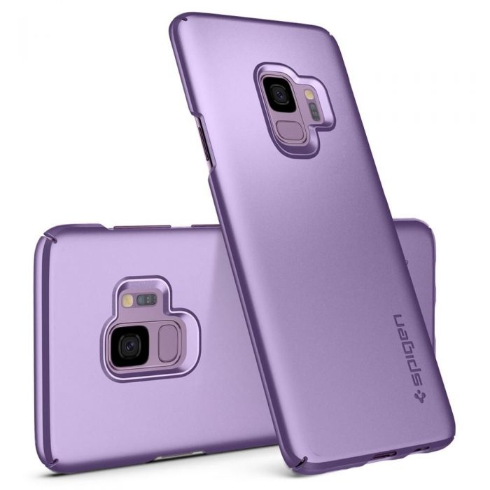spigen thin fit samsung galaxy s9 lilac purple - spigen 8809565305078 2 1