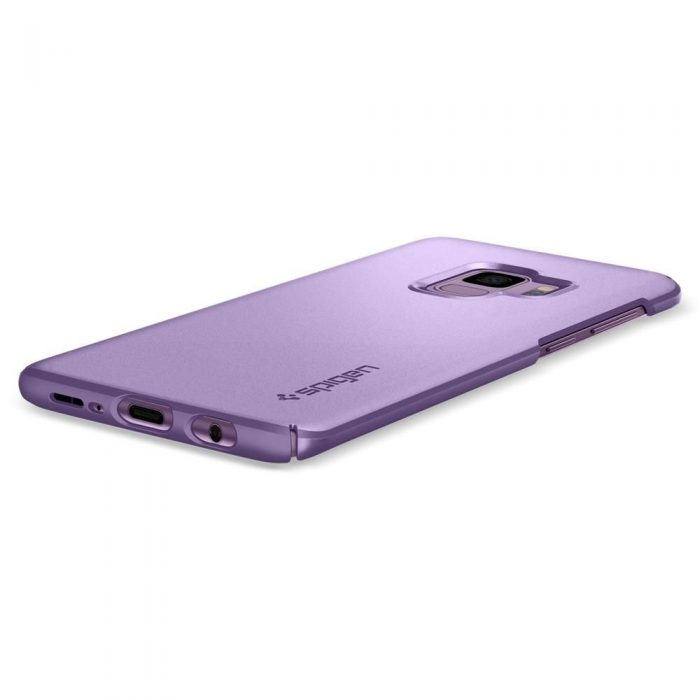 spigen thin fit samsung galaxy s9 lilac purple - spigen 8809565305078 3 1