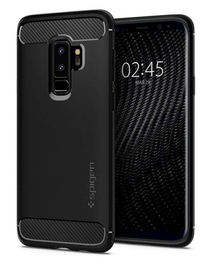 spigen rugged armor samsung galaxy s9 plus black - spigen 8809565306044 1