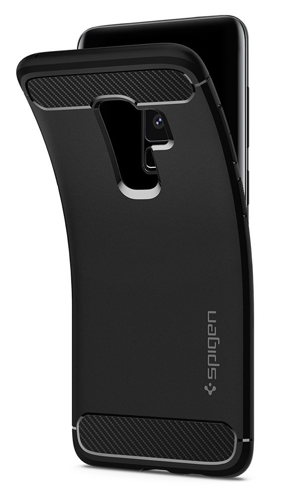 spigen rugged armor samsung galaxy s9 plus black - spigen 8809565306044 5