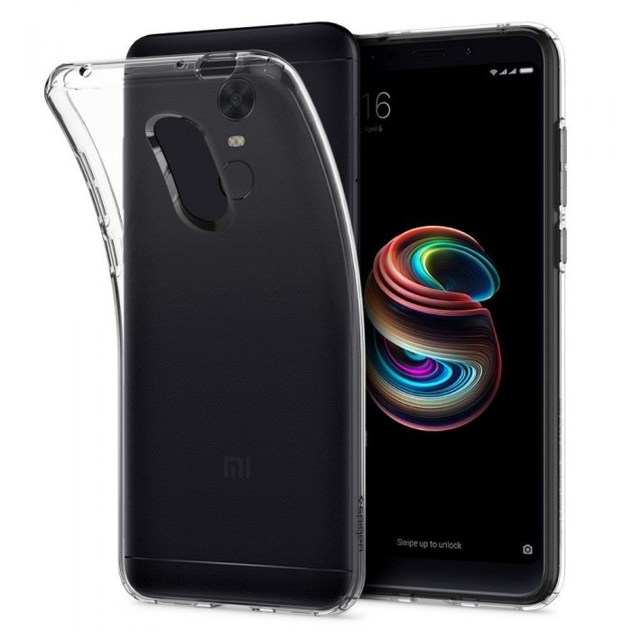 spigen liquid crystal xiaomi redmi 5 plus clear - spigen 8809565308215 3 1