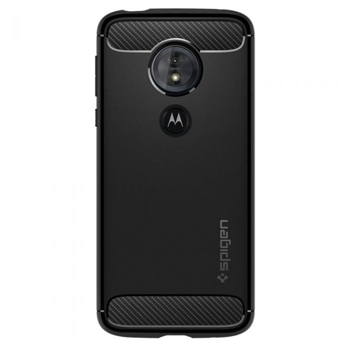 spigen rugged armor motorola moto g6 play black - spigen 8809606429657 1 1