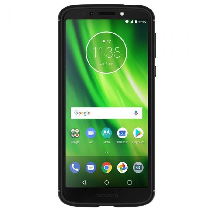 spigen rugged armor motorola moto g6 play black - spigen 8809606429657 2 1
