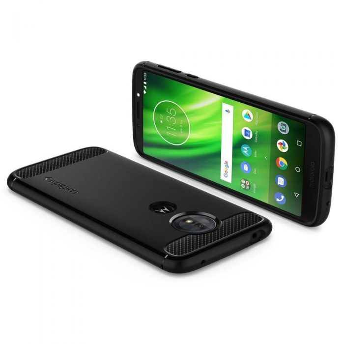 spigen rugged armor motorola moto g6 play black - spigen 8809606429657 5 1