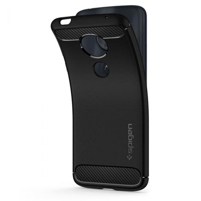 spigen rugged armor motorola moto g6 play black - spigen 8809606429657 6 1