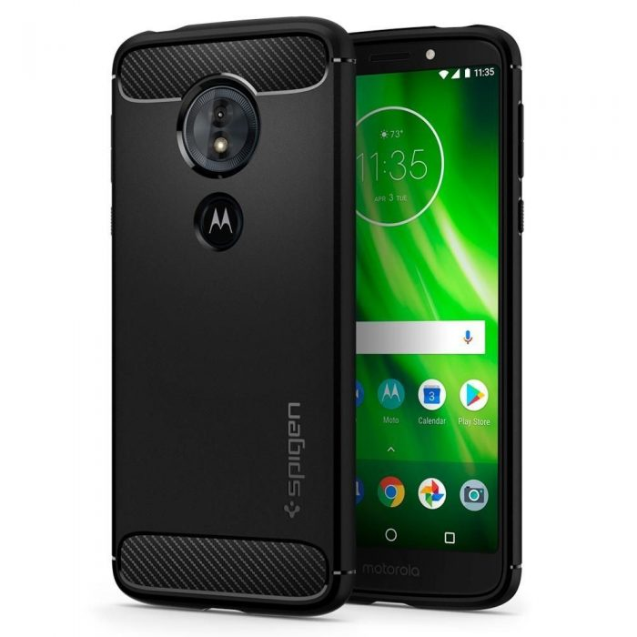 spigen rugged armor motorola moto g6 play black - spigen 8809606429657 8