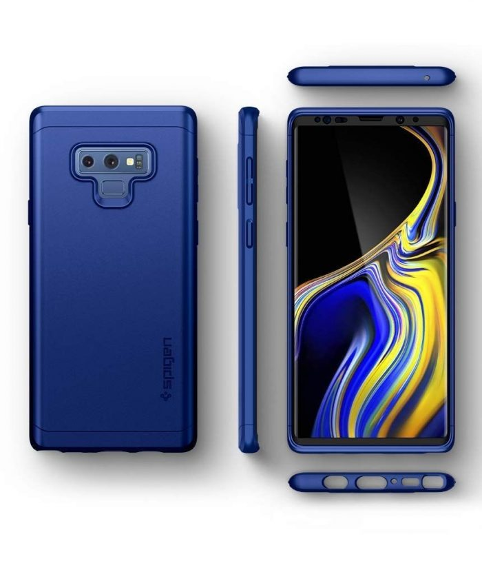 spigen thin fit 360 galaxy note 9 ocean blue - spigen 8809613765519 5 1