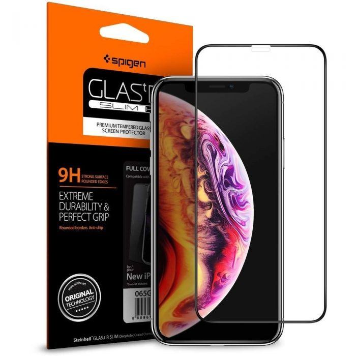 spigen glas.tr tc 3d full cover case friendly iphone 11 pro max/xs max - spigen 8809613767254