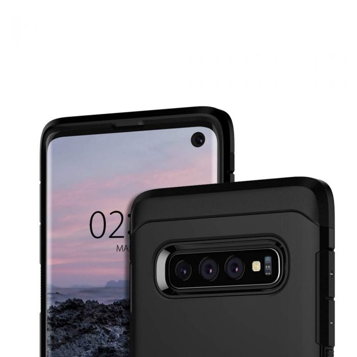 spigen tough armor samsung galaxy s10 black - spigen 8809640252327 1 1