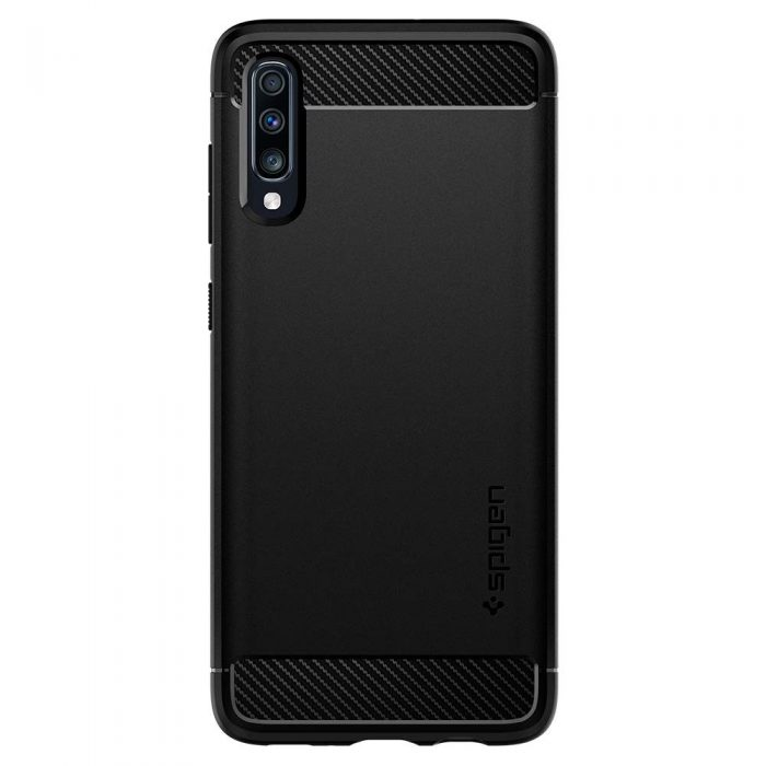 spigen rugged armor samsung galaxy a70 black - spigen 8809640257483 1