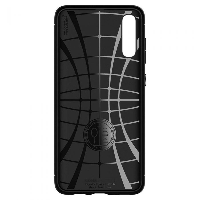 spigen rugged armor samsung galaxy a70 black - spigen 8809640257483 5 1