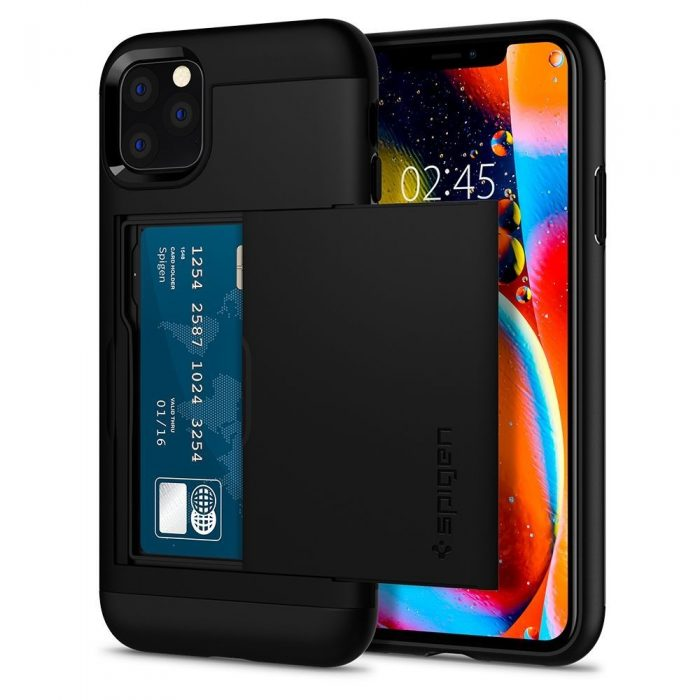 spigen slim armor cs apple iphone 11 pro max black - spigen 8809640259838