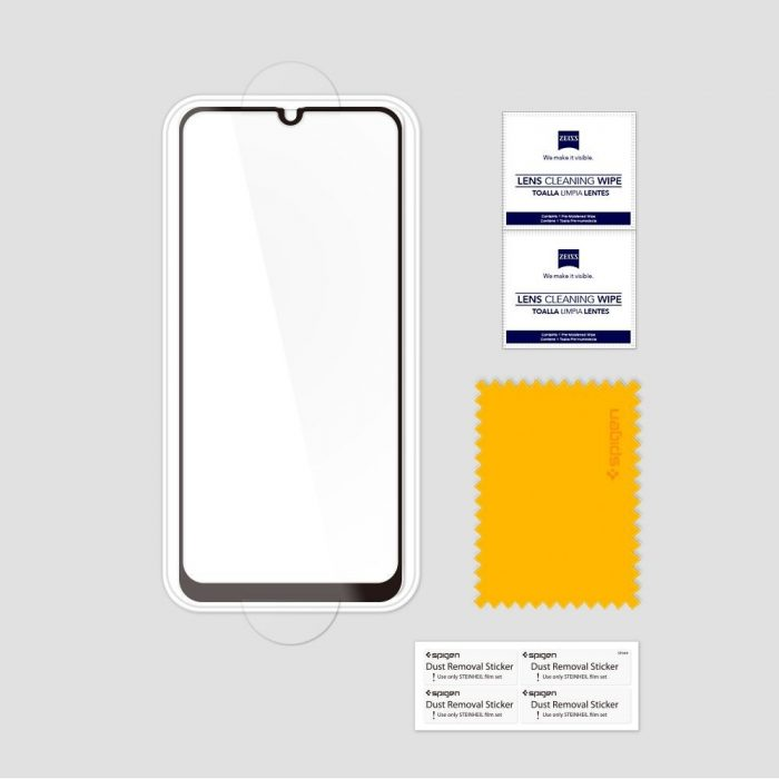 spigen glas.tr slim samsung galaxy a40 full cover case friendly - spigen 8809671011474 6 1